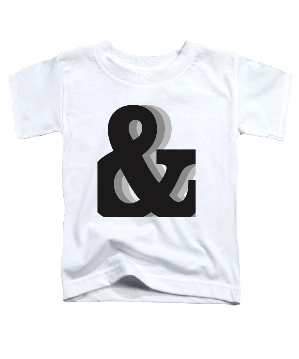 & Toddler T-Shirt featuring the mixed media Ampersand - And Symbol 1 - Minimalist Print by Studio Grafiikka