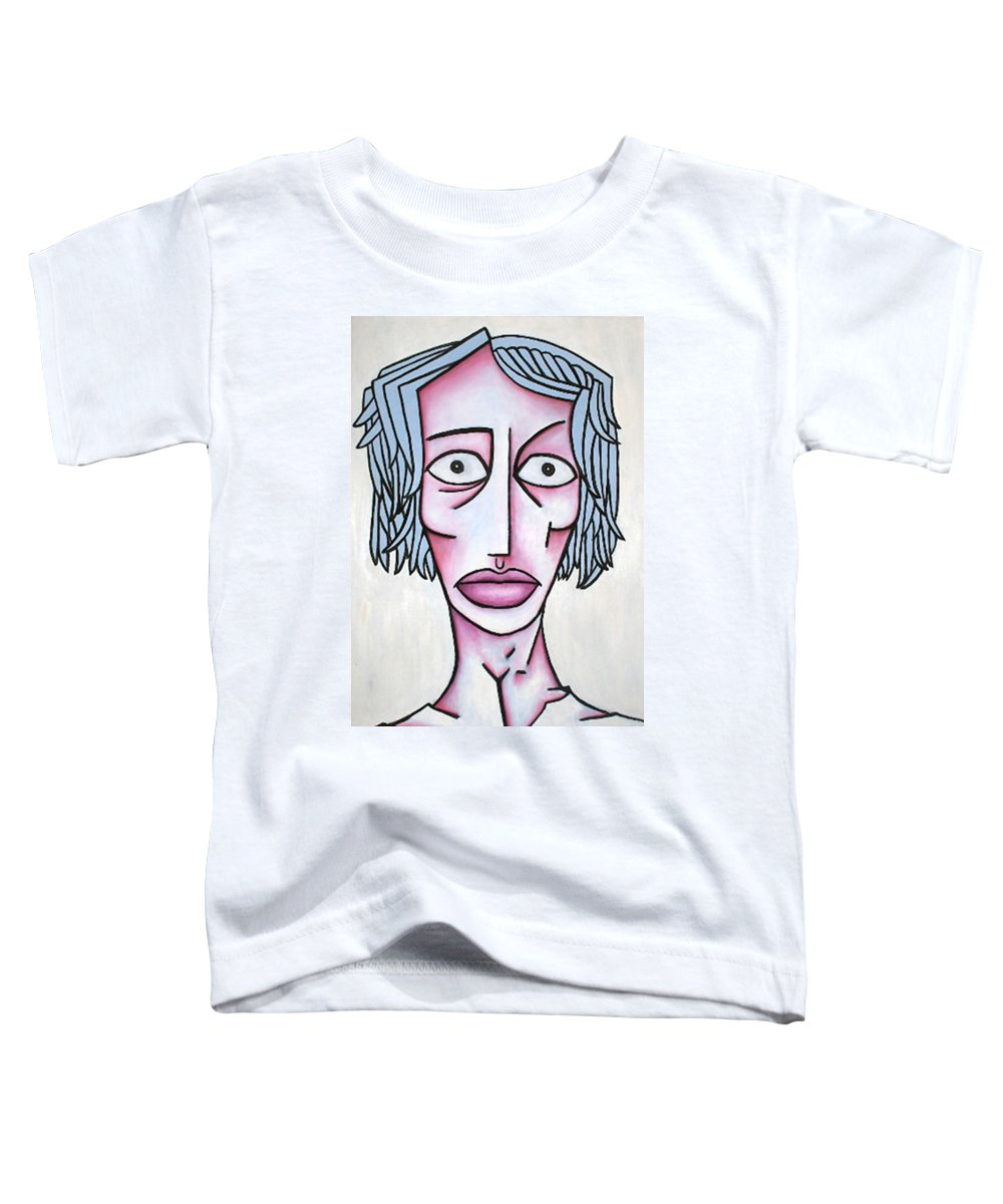 Potrait Toddler T-Shirt featuring the painting amy by Thomas Valentine