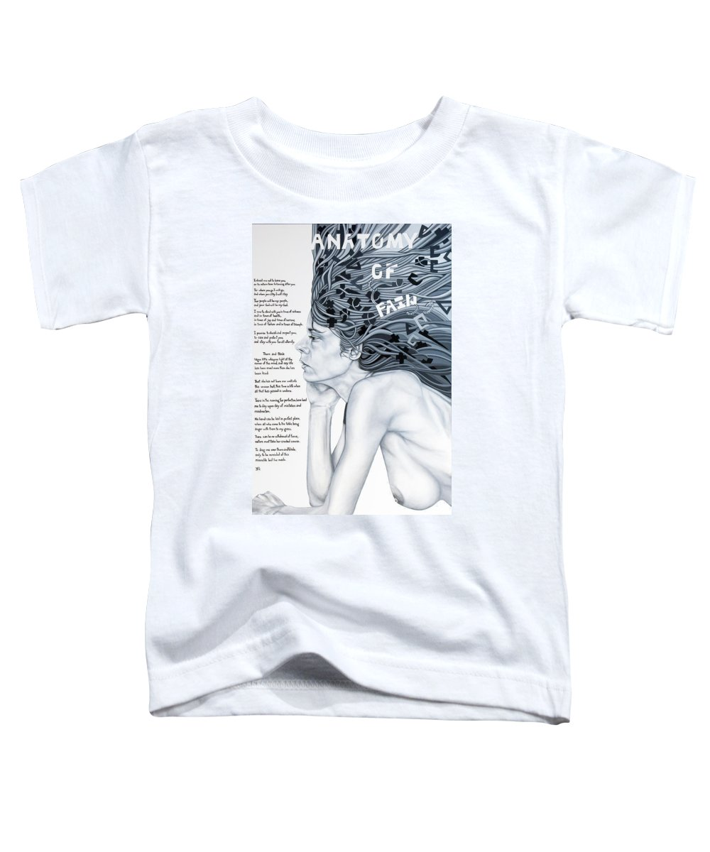 Poetry Toddler T-Shirt featuring the painting Anatomy Of Pain by Judy Henninger