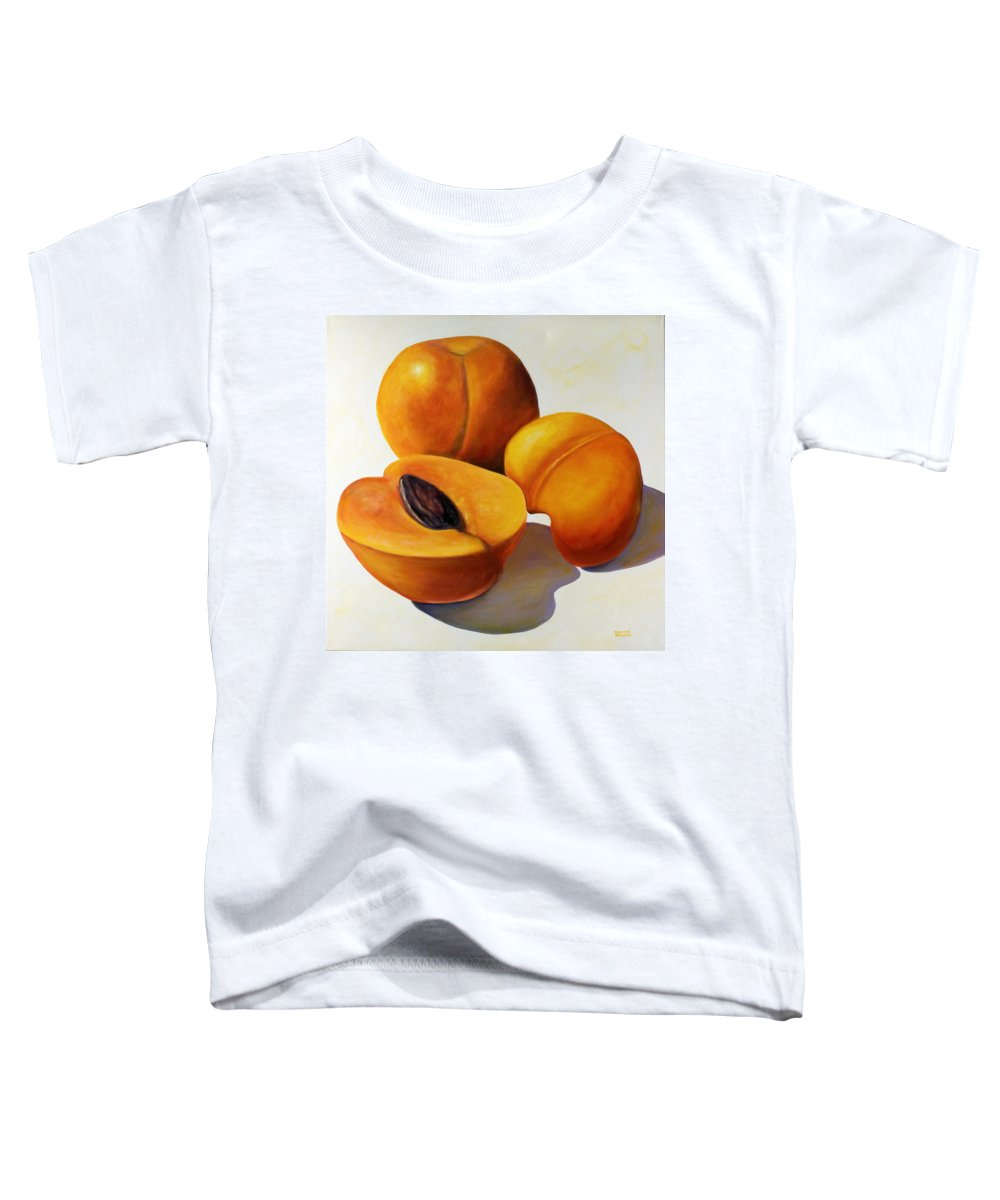 Apricots Toddler T-Shirt featuring the painting Apricots by Shannon Grissom