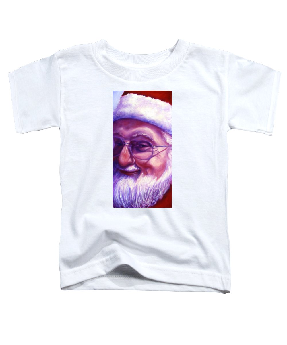 Portrait Toddler T-Shirt featuring the painting Are You Sure You Have Been Nice by Shannon Grissom
