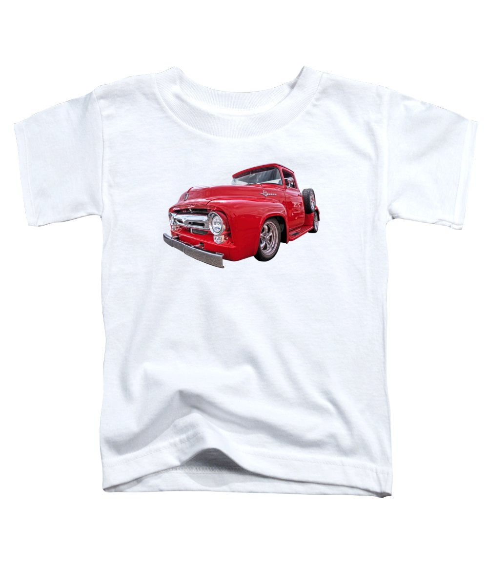 Ford F100 Toddler T-Shirt featuring the photograph Red F-100 by Gill Billington