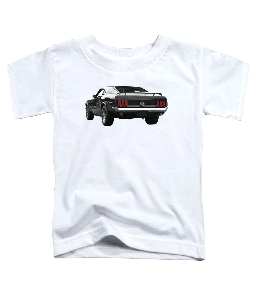 Ford Mustang Toddler T-Shirt featuring the photograph Rear Of The Year - '69 Mustang by Gill Billington