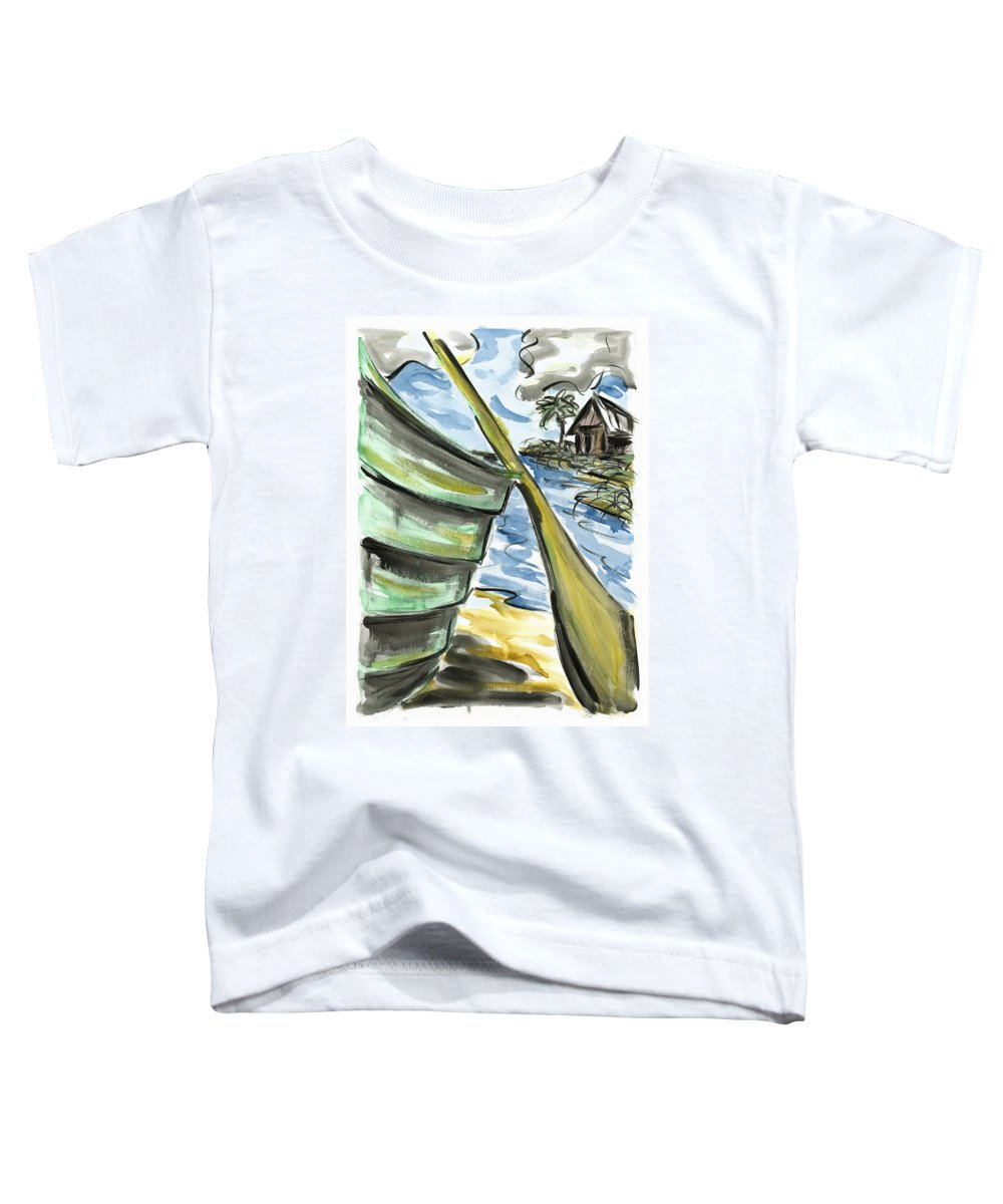 Seascape Toddler T-Shirt featuring the painting Ashore by Robert Joyner
