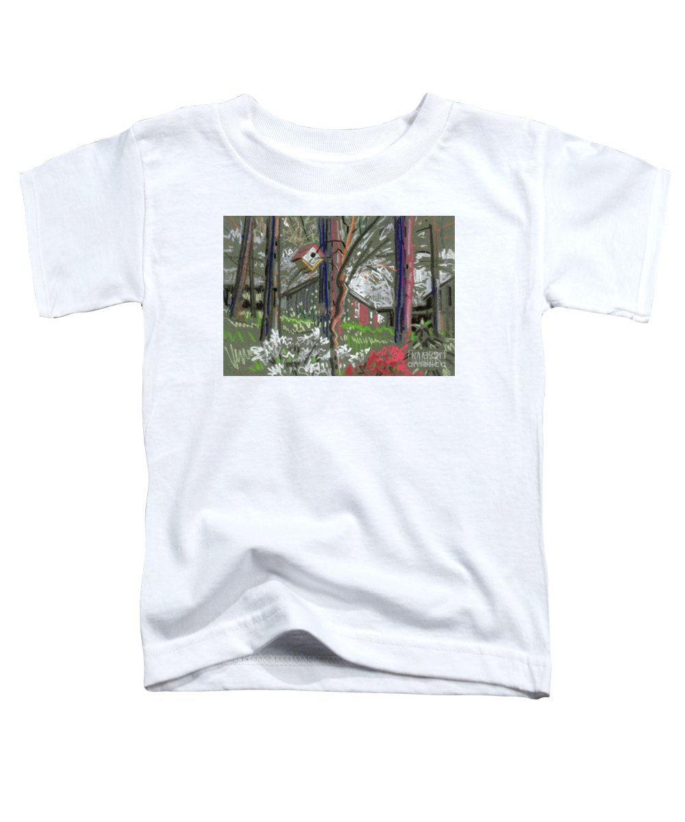 Azalea Toddler T-Shirt featuring the drawing Azaleas In Spring by Donald Maier