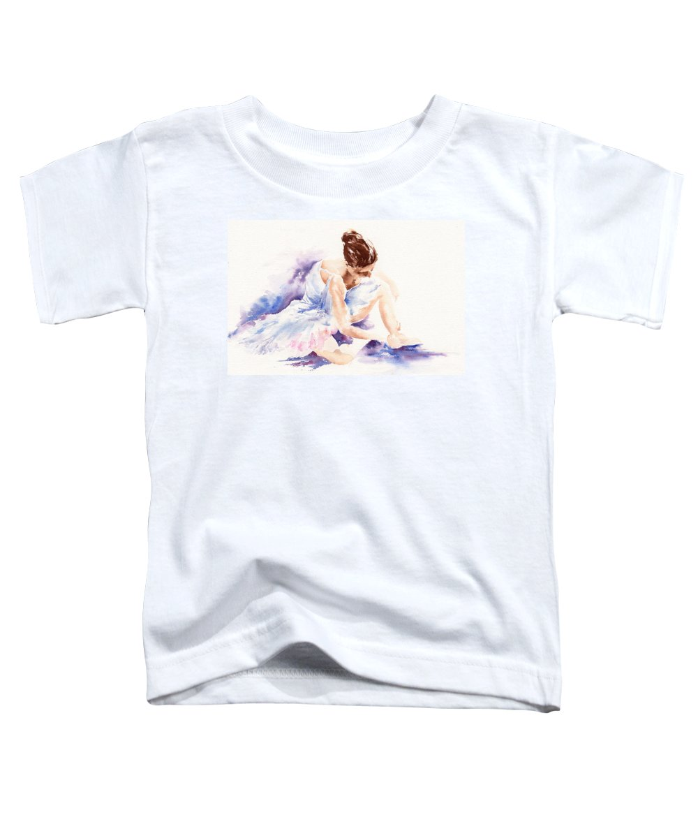 Ballerina Toddler T-Shirt featuring the painting Ballerina by Stephie Butler
