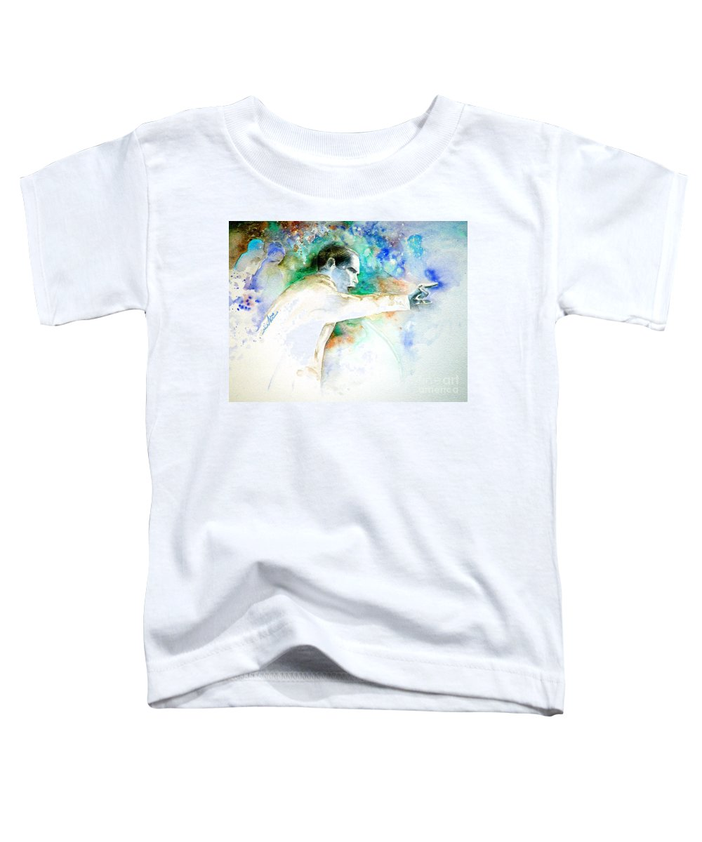 Portrait Barack Obama Toddler T-Shirt featuring the painting Barack Obama Pointing At You by Miki De Goodaboom