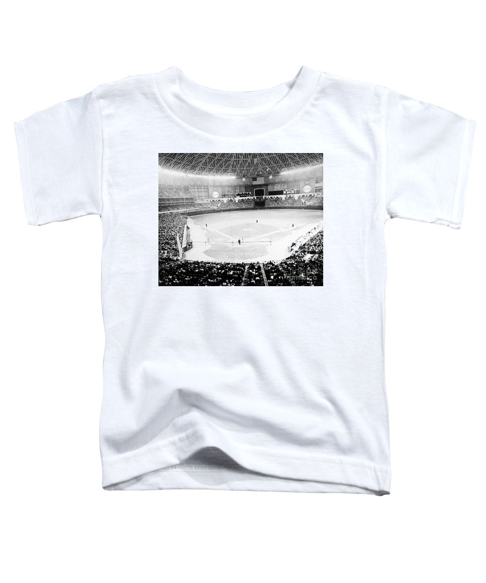 1965 Toddler T-Shirt featuring the photograph Baseball: Astrodome, 1965 by Granger
