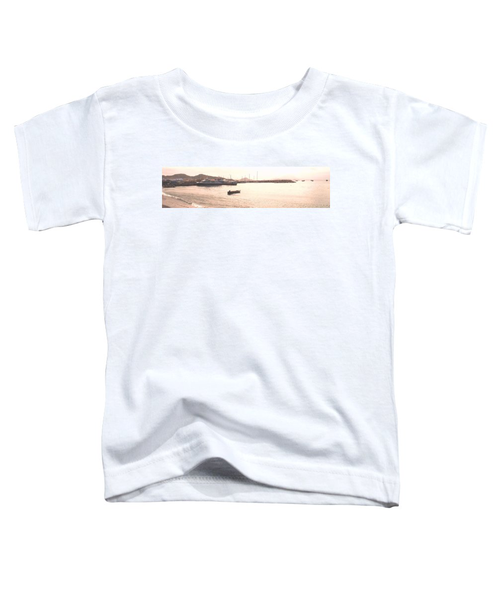 St Kitts Toddler T-Shirt featuring the photograph Basseterre Harbour by Ian MacDonald