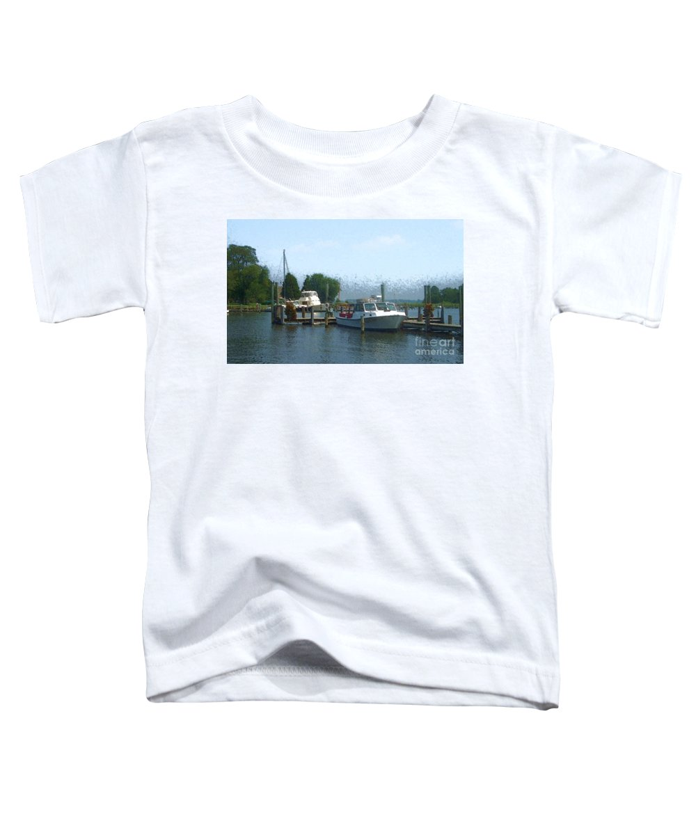 Boat Toddler T-Shirt featuring the photograph Beached Buoys by Debbi Granruth