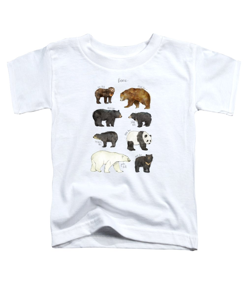 Bear Toddler T-Shirt featuring the drawing Bears by Amy Hamilton