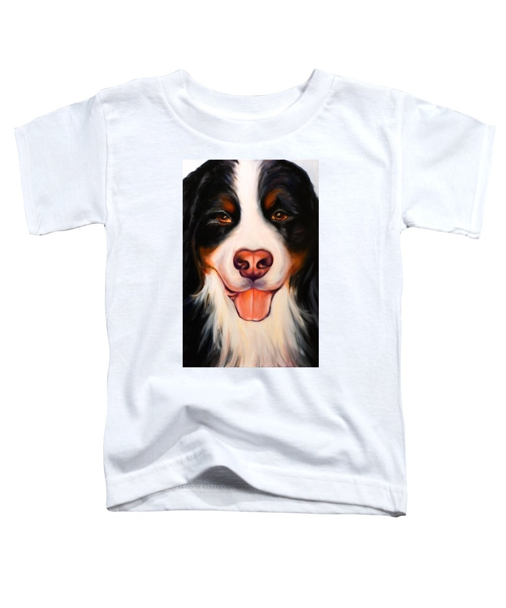 Dog Toddler T-Shirt featuring the painting Big Willie by Shannon Grissom