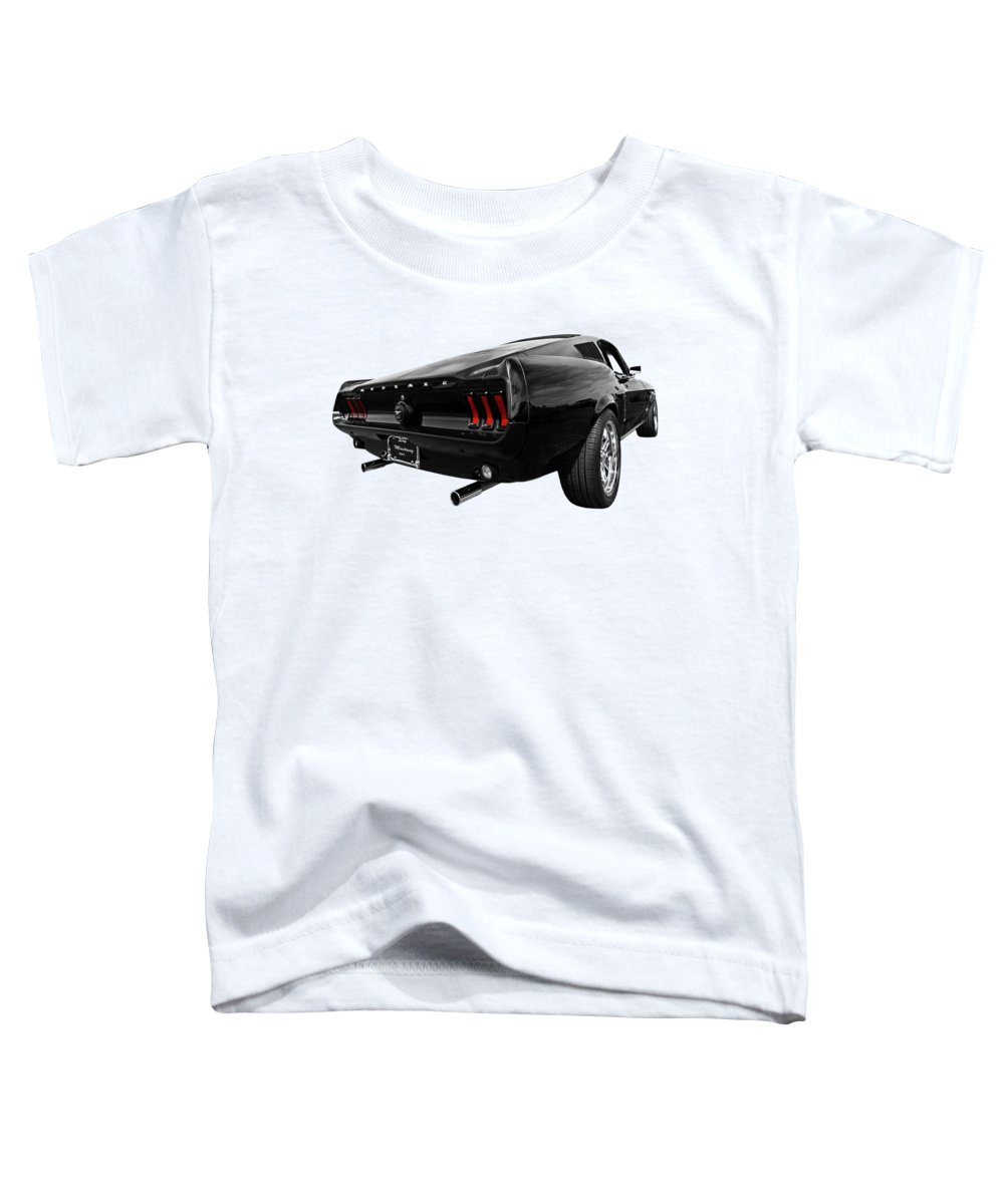 Classic Mustang Toddler T-Shirt featuring the photograph Black 1967 Mustang by Gill Billington