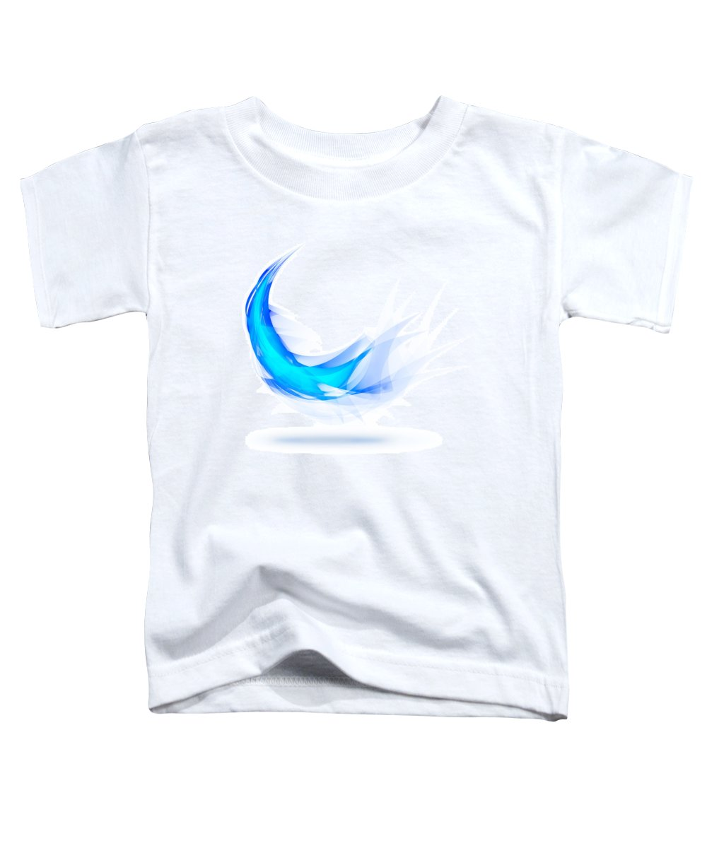 Abstract Toddler T-Shirt featuring the painting Blue Feather by Setsiri Silapasuwanchai