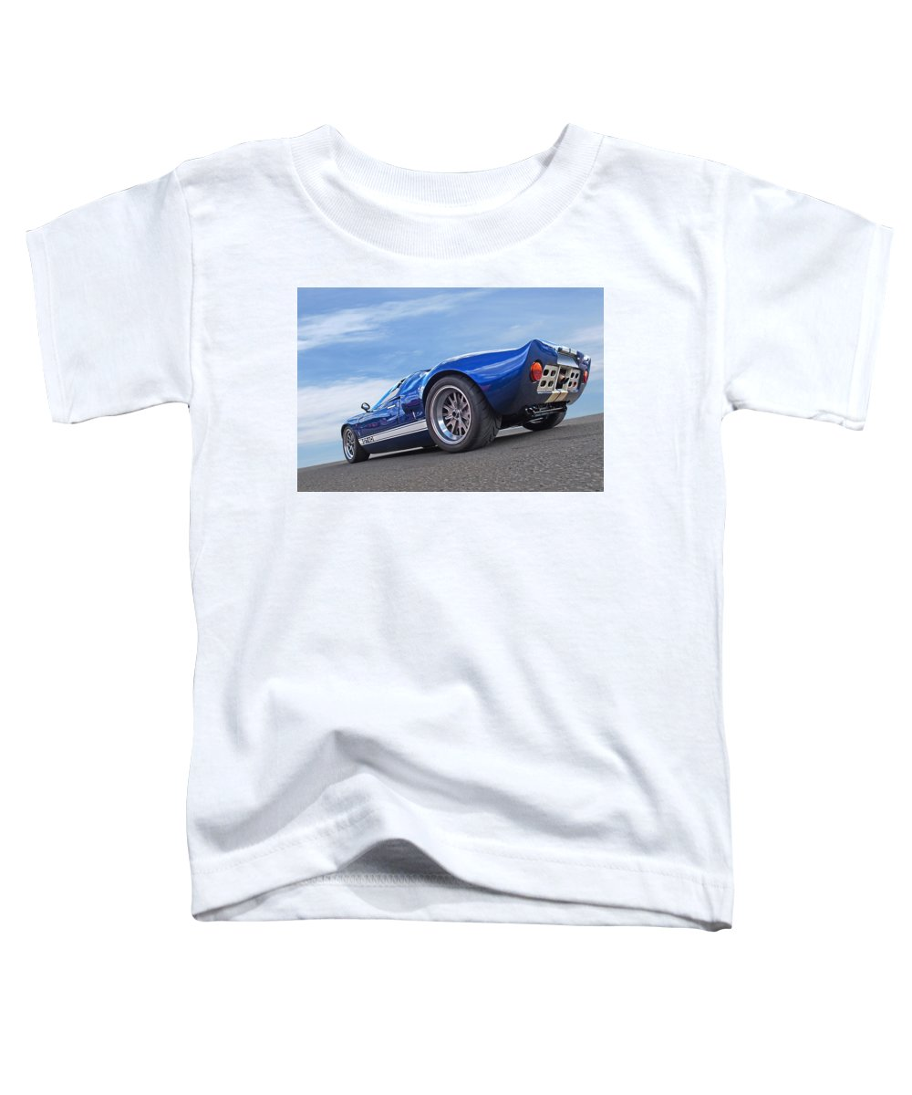 Ford Gt40 Toddler T-Shirt featuring the photograph Blue Sky Day - Ford Gt 40 by Gill Billington