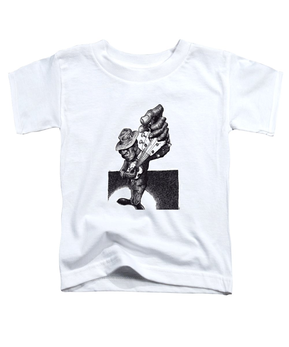 Blues Toddler T-Shirt featuring the drawing Blues Guitar by Tobey Anderson