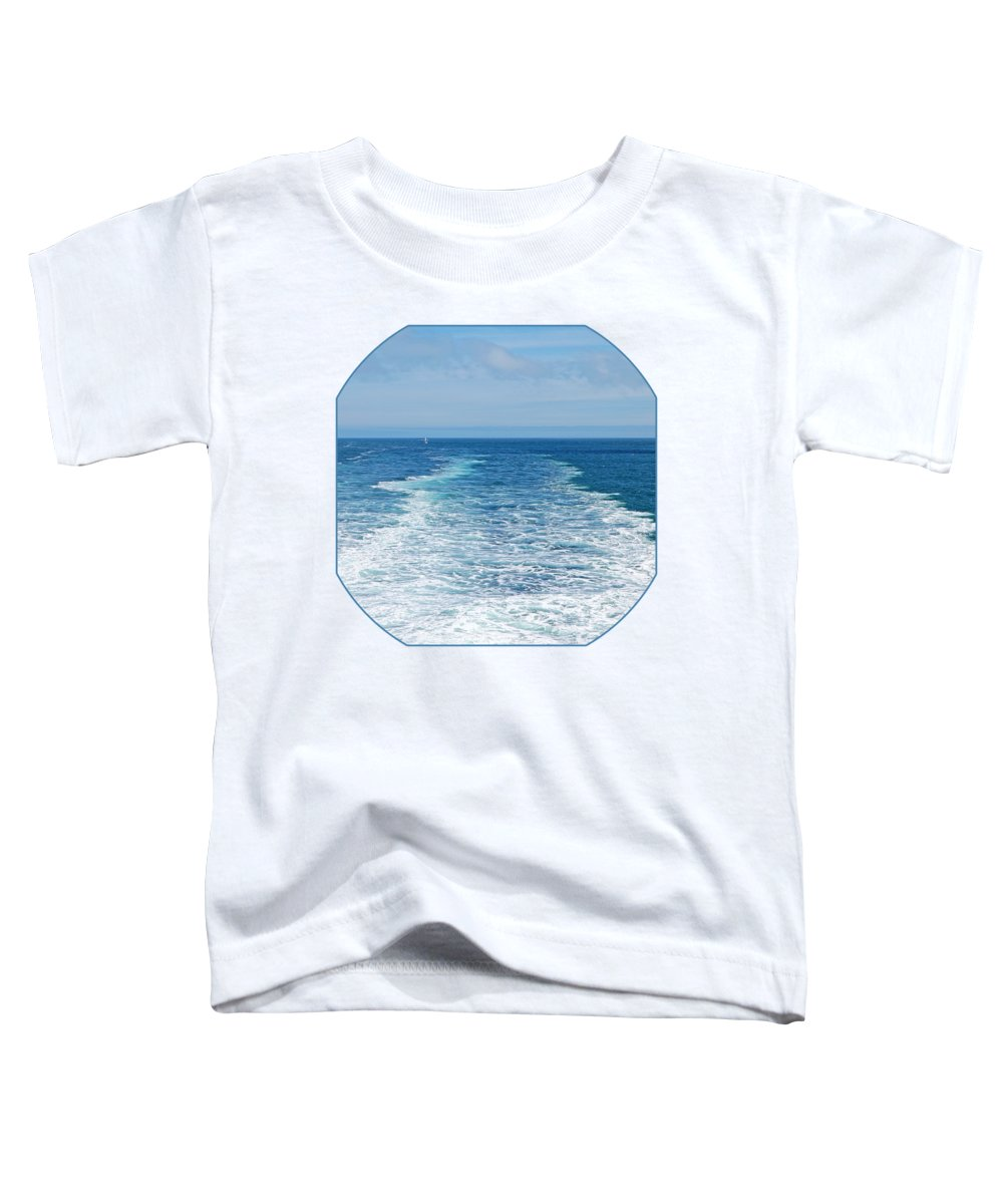 Seascape Toddler T-Shirt featuring the photograph Bon Voyage by Gill Billington