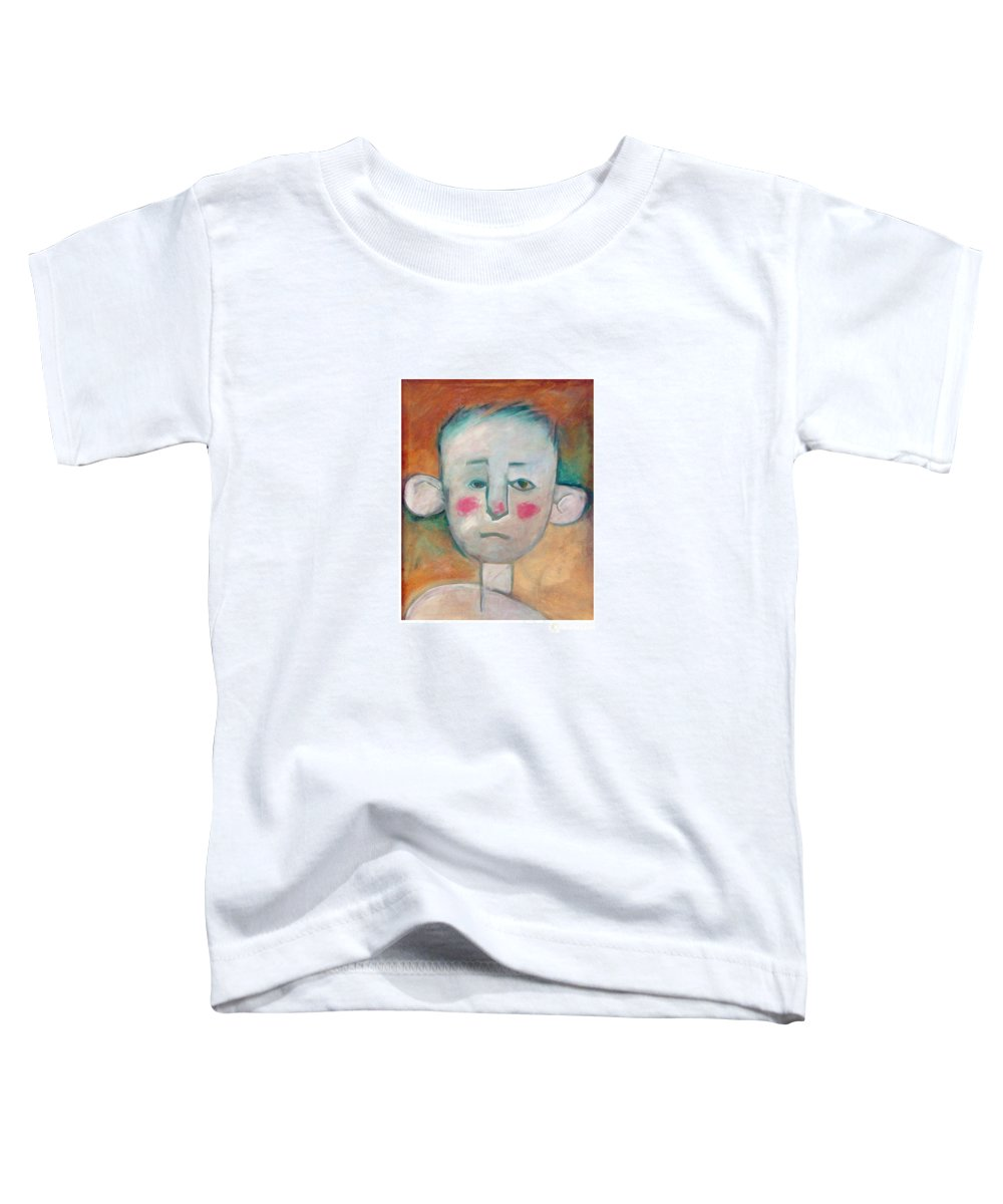Boy Toddler T-Shirt featuring the painting Boy by Tim Nyberg