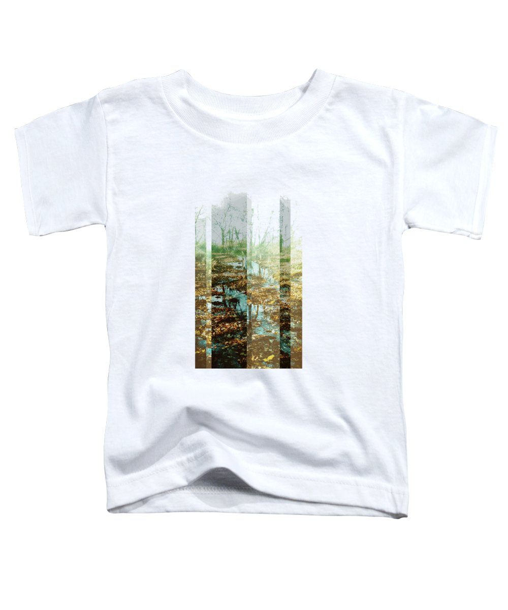 River Toddler T-Shirt featuring the digital art Brushy Fork by Katherine Smit