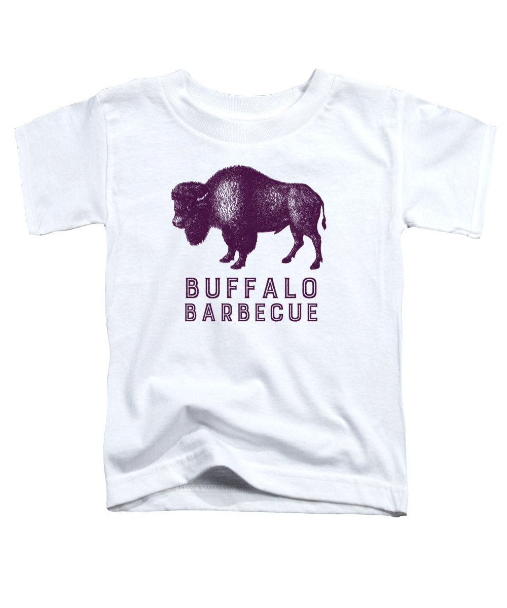 Retro Toddler T-Shirt featuring the digital art Buffalo Barbecue by Antique Images