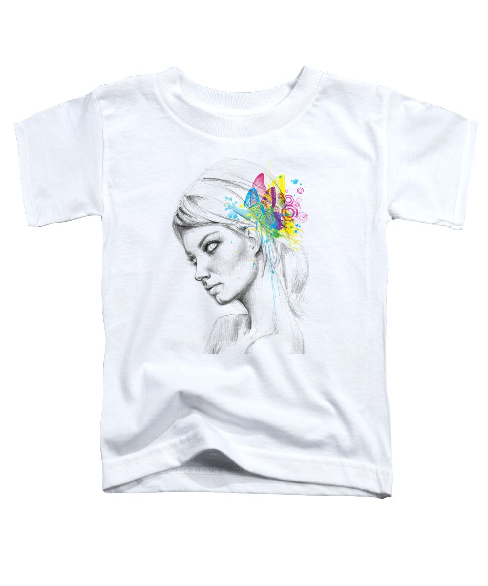 Butterfly Toddler T-Shirt featuring the digital art Butterfly Queen by Olga Shvartsur