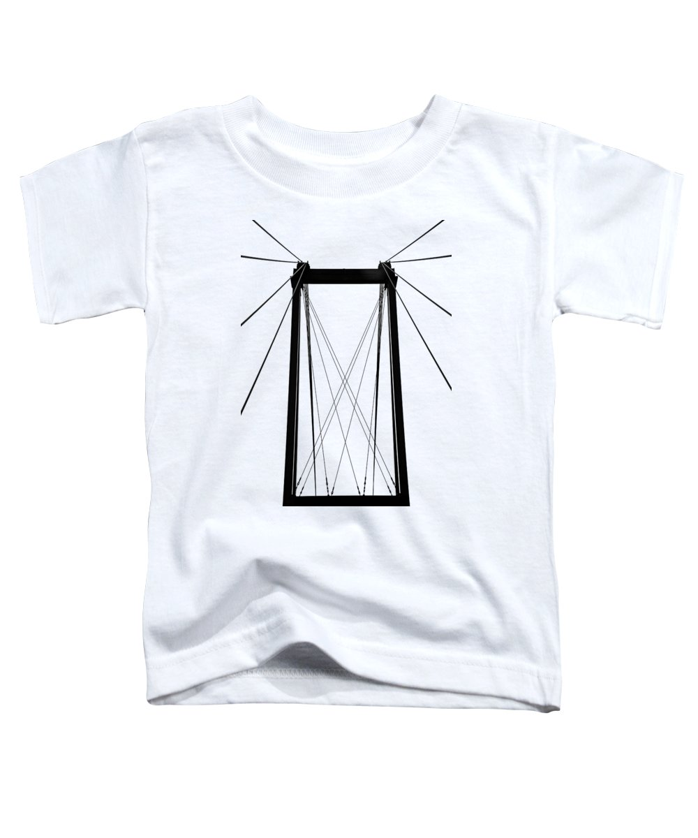 French River Toddler T-Shirt featuring the photograph Cable Bridge Abstract by Debbie Oppermann