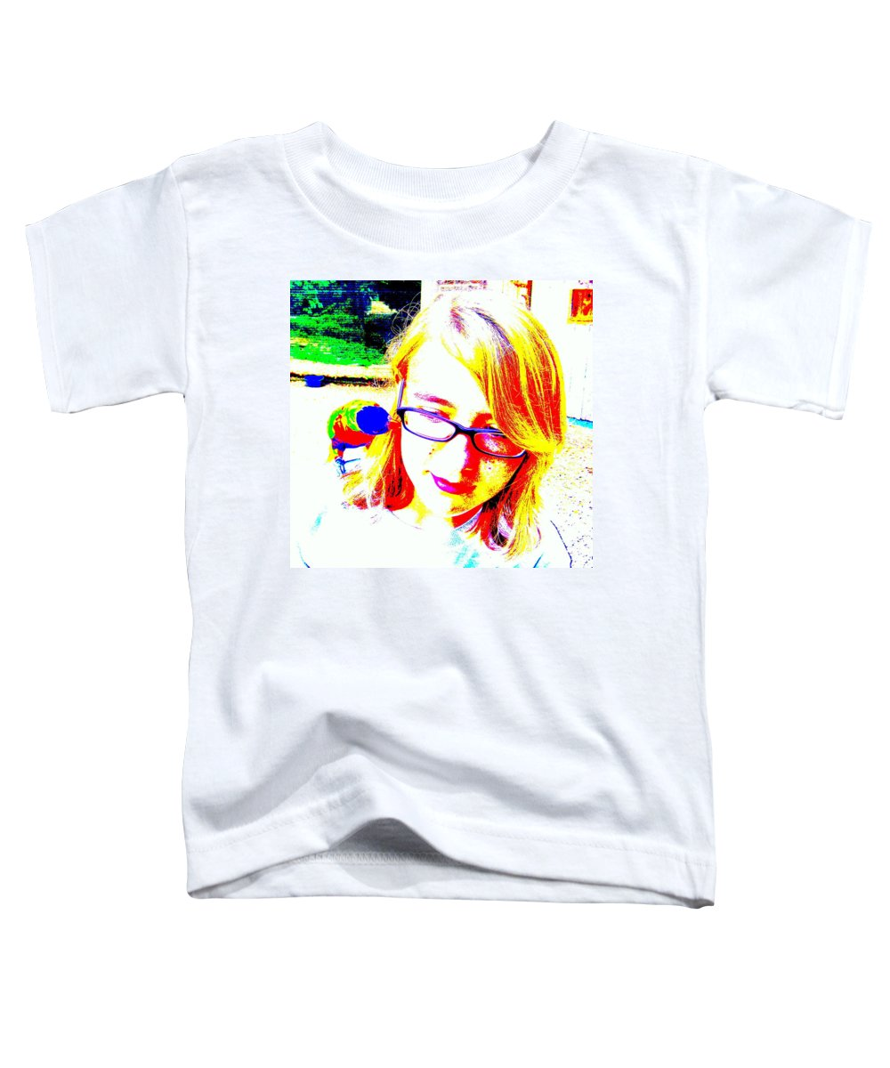 Bird Toddler T-Shirt featuring the photograph Can You Hear Me Now by Ed Smith