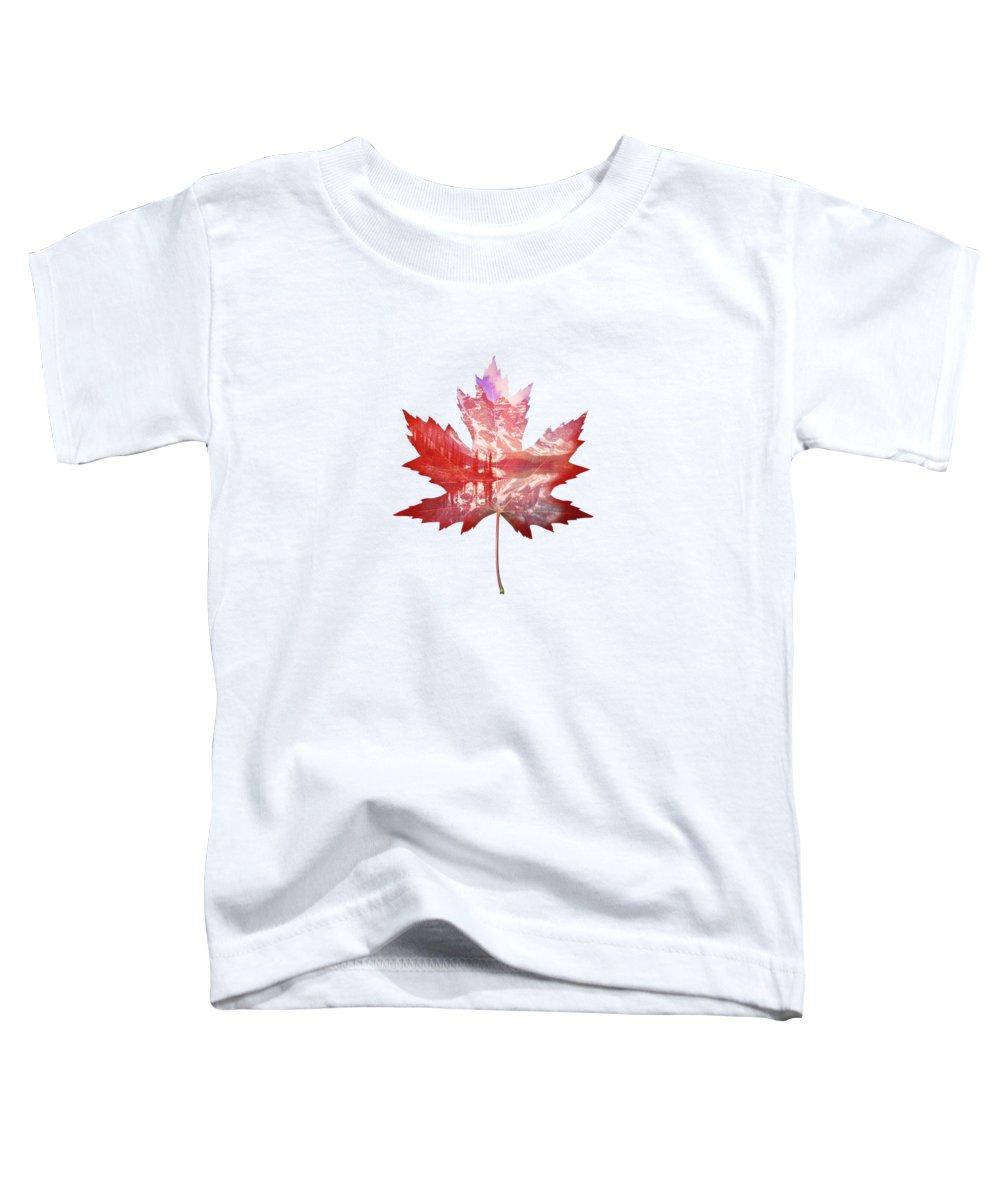 Maple Leaf Art Toddler T-Shirts