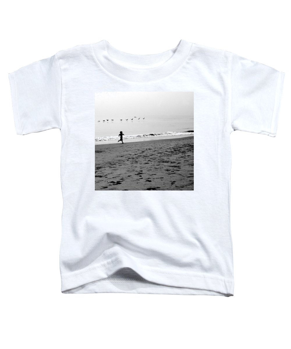 Photograph Toddler T-Shirt featuring the photograph Carefree by Jean Macaluso