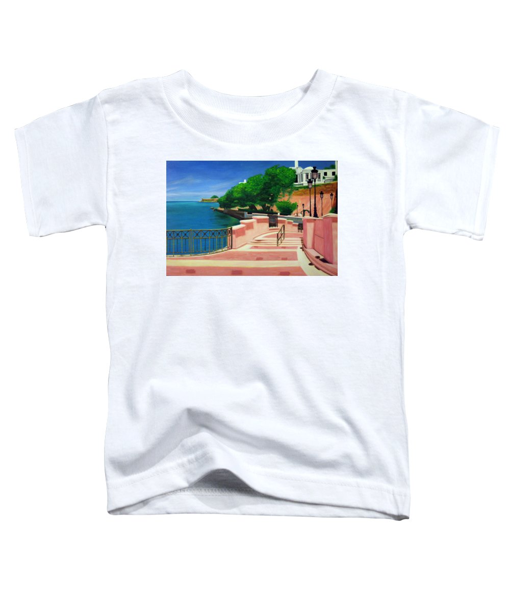 Landscape Toddler T-Shirt featuring the painting Casa Blanca - Puerto Rico by Tito Santiago