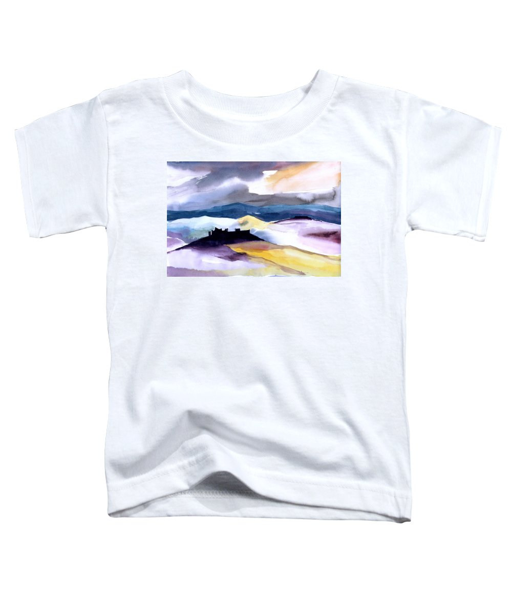 Water Toddler T-Shirt featuring the painting Castle by Anil Nene