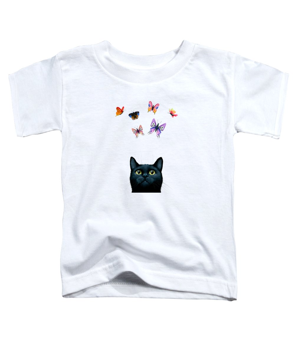 Cat Toddler T-Shirt featuring the painting Cat 606 by Lucie Dumas