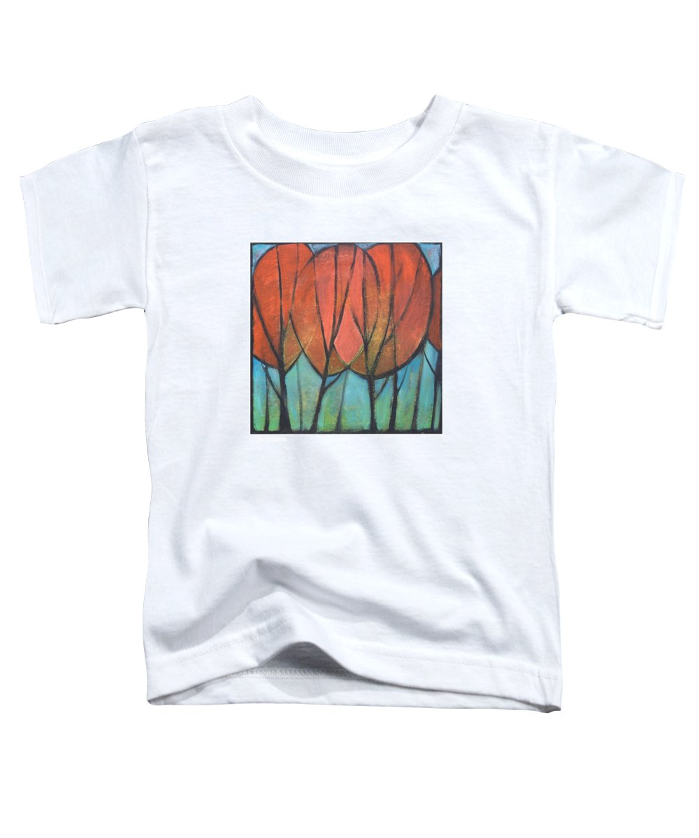 Trees Toddler T-Shirt featuring the painting Cathedral by Tim Nyberg