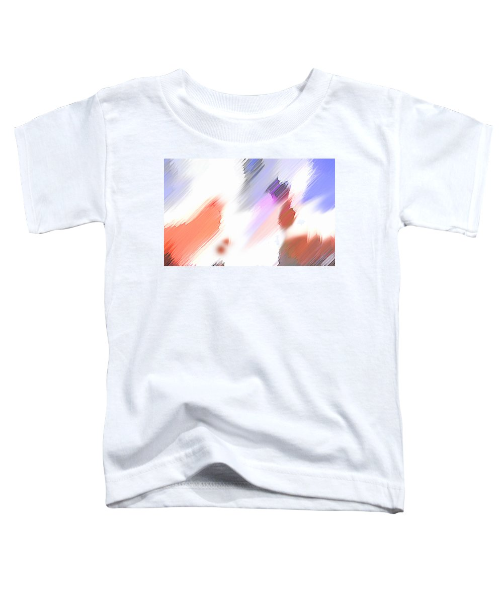 Digital Art Water Color Watercolor Light Color Toddler T-Shirt featuring the painting Celebration by Anil Nene
