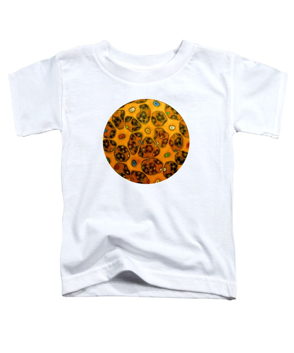 Cells Toddler T-Shirt featuring the drawing Cell Network by Nancy Mueller