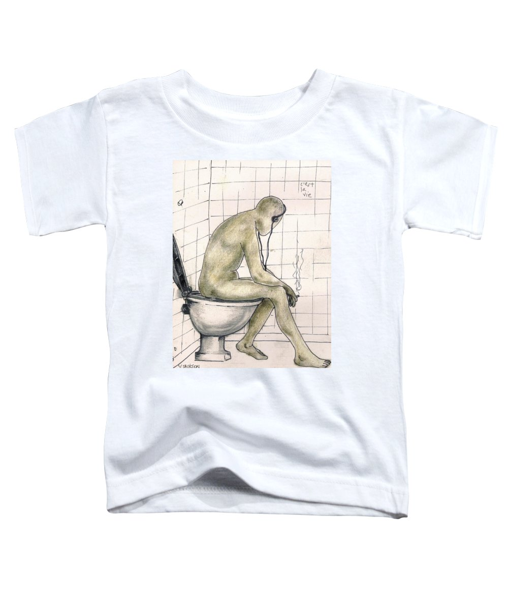 Life Naked Music Toddler T-Shirt featuring the drawing C'est La Vie by Veronica Jackson