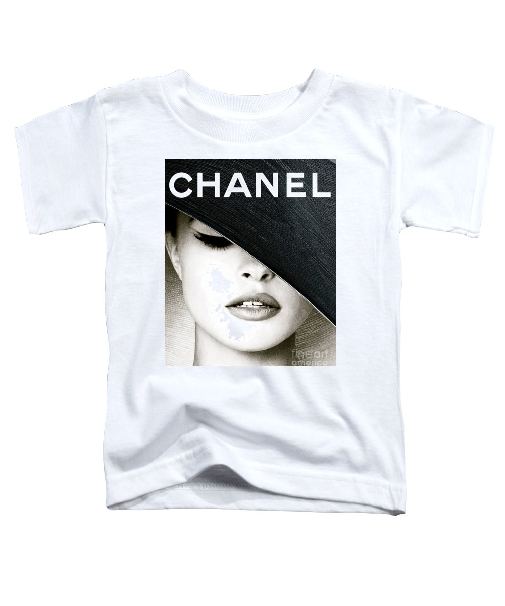 Jacques Henri Lartigue Toddler T-Shirt featuring the mixed media CHANEL, Black Hat Cover by Thomas Pollart