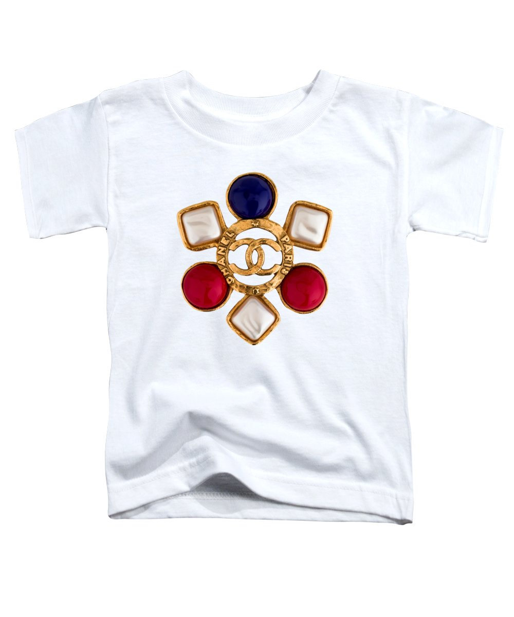 Chanel Toddler T-Shirt featuring the painting Chanel Jewelry-14 by Nikita