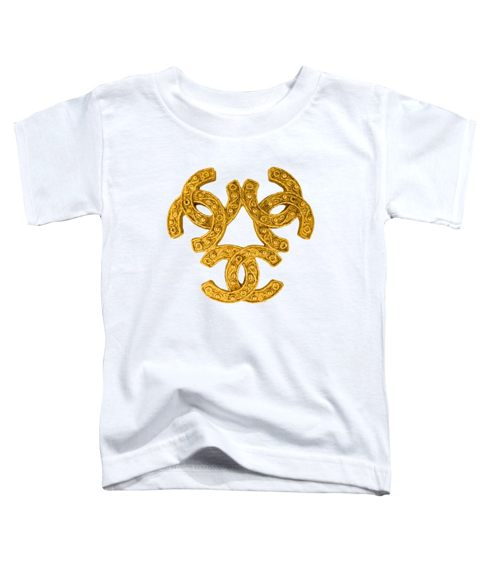 Chanel Toddler T-Shirt featuring the painting Chanel Jewelry-15 by Nikita