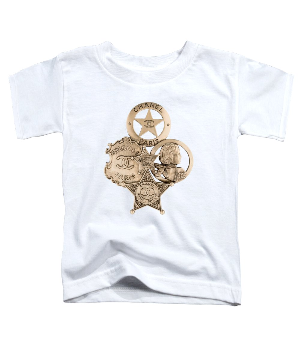 Chanel Toddler T-Shirt featuring the painting Chanel Jewelry-16 by Nikita