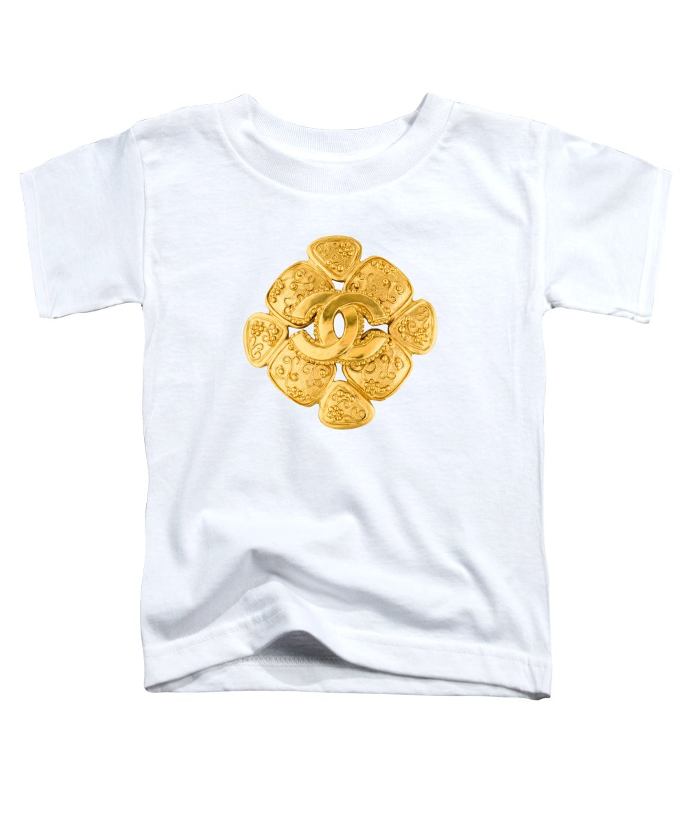 Chanel Toddler T-Shirt featuring the painting Chanel Jewelry-5 by Nikita