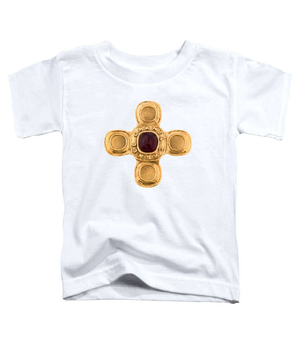 Chanel Toddler T-Shirt featuring the painting Chanel Jewelry-6 by Nikita