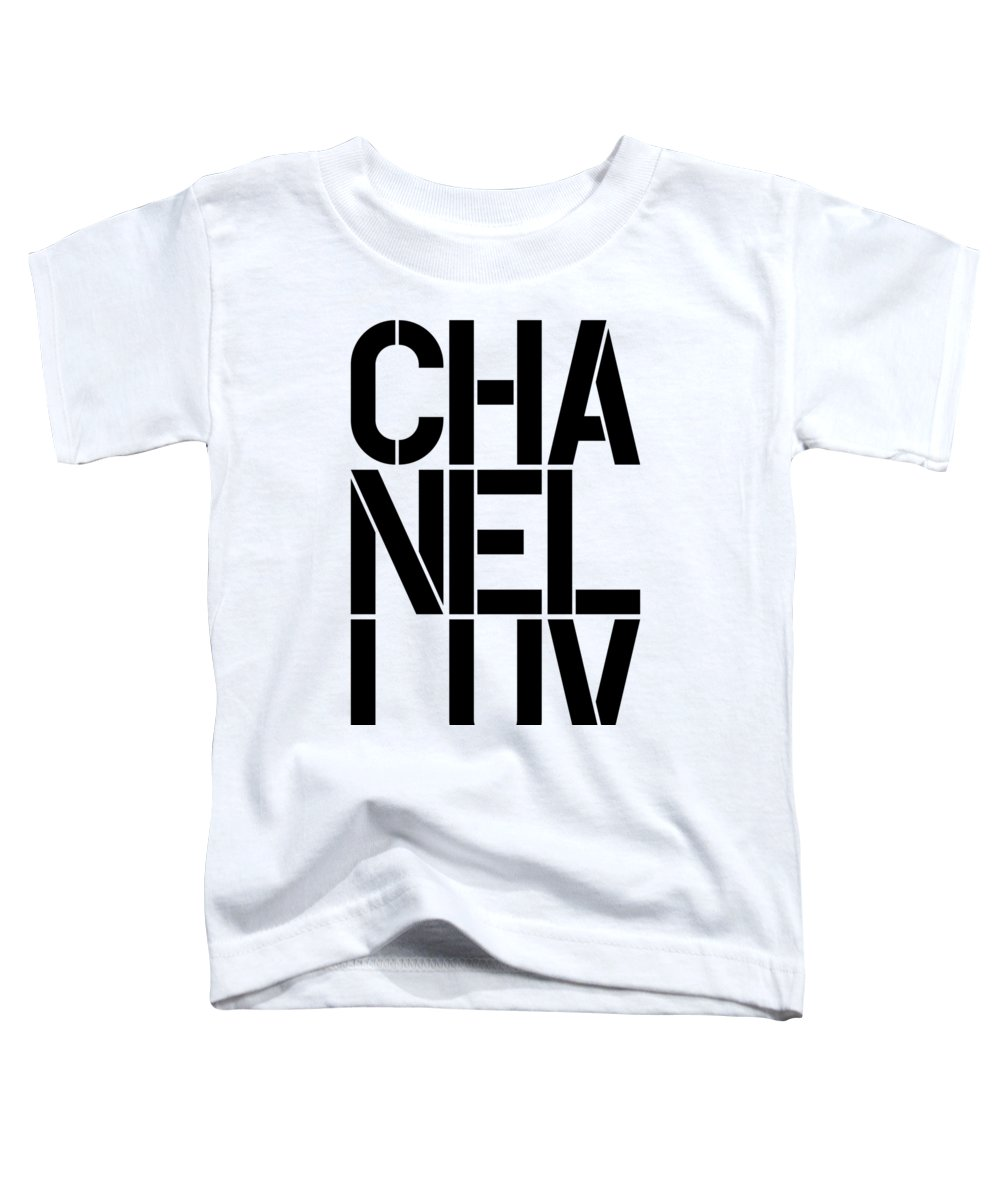 Chanel Toddler T-Shirt featuring the painting Chanel Luv-1 by Nikita