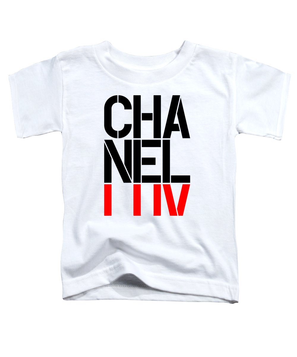 Chanel Toddler T-Shirt featuring the painting Chanel Luv-5 by Nikita