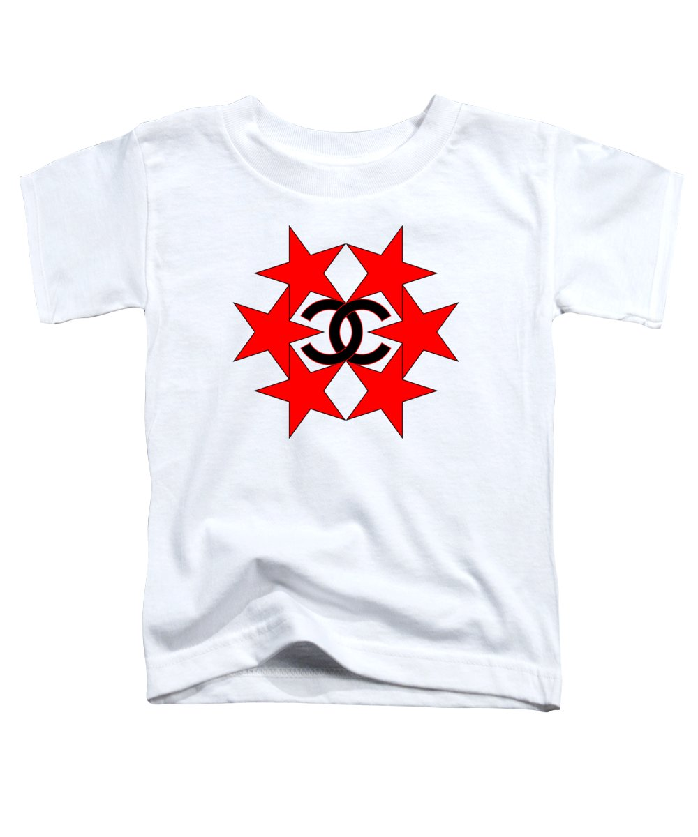 Chanel Toddler T-Shirt featuring the painting Chanel Stars-14 by Nikita