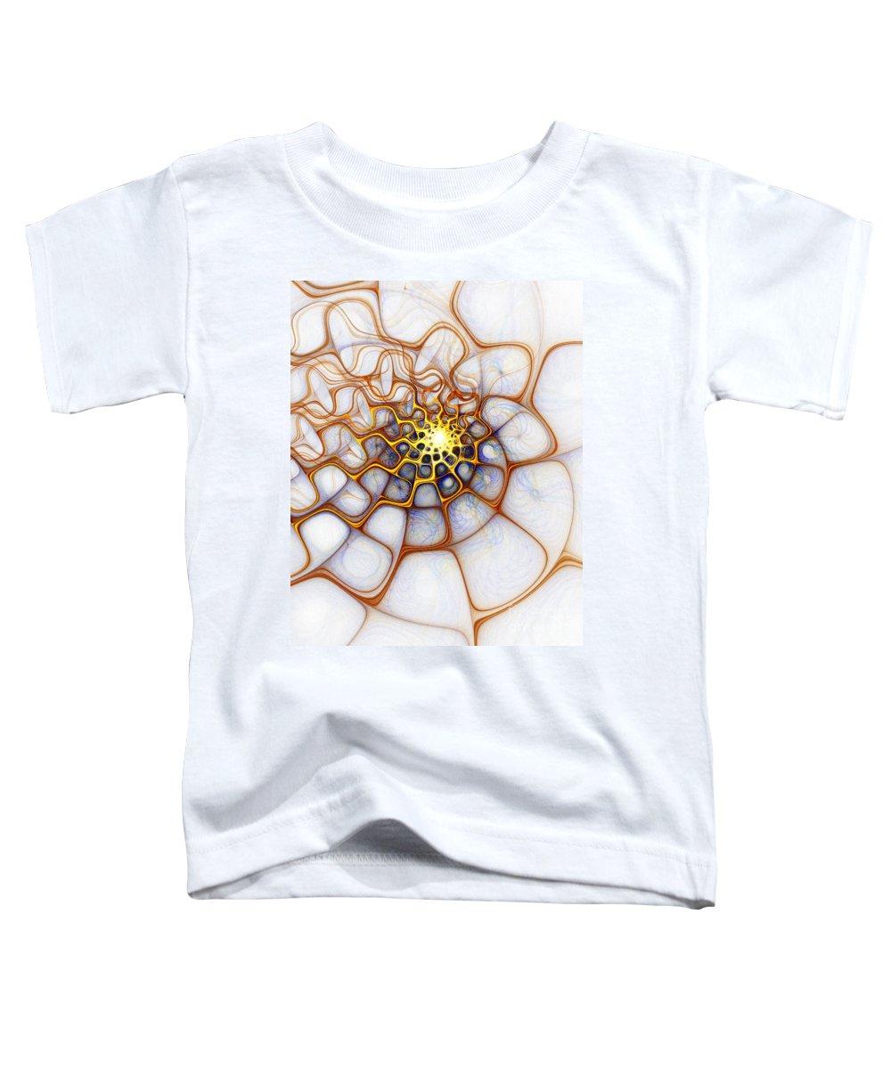Digital Art Toddler T-Shirt featuring the digital art Charlotte's Web by Amanda Moore