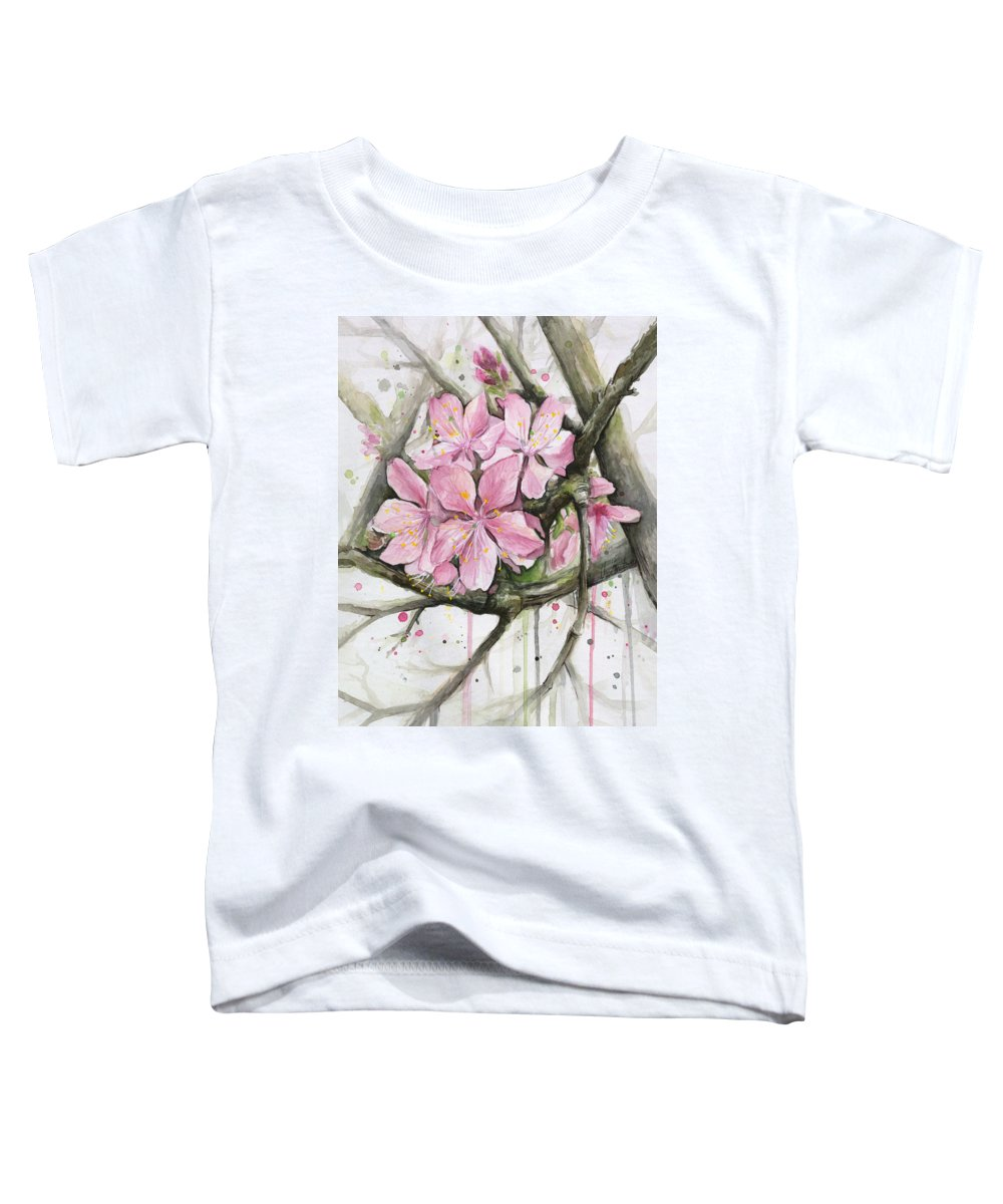 Blooming Tree Paintings Toddler T-Shirts