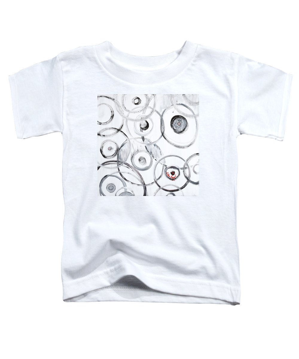 Circles Toddler T-Shirt featuring the painting Choices In White by Nadine Rippelmeyer
