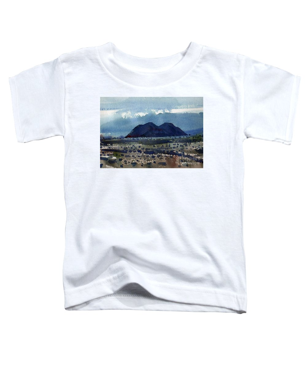 Cinder Cone Toddler T-Shirt featuring the painting Cinder Cone Death Valley by Donald Maier