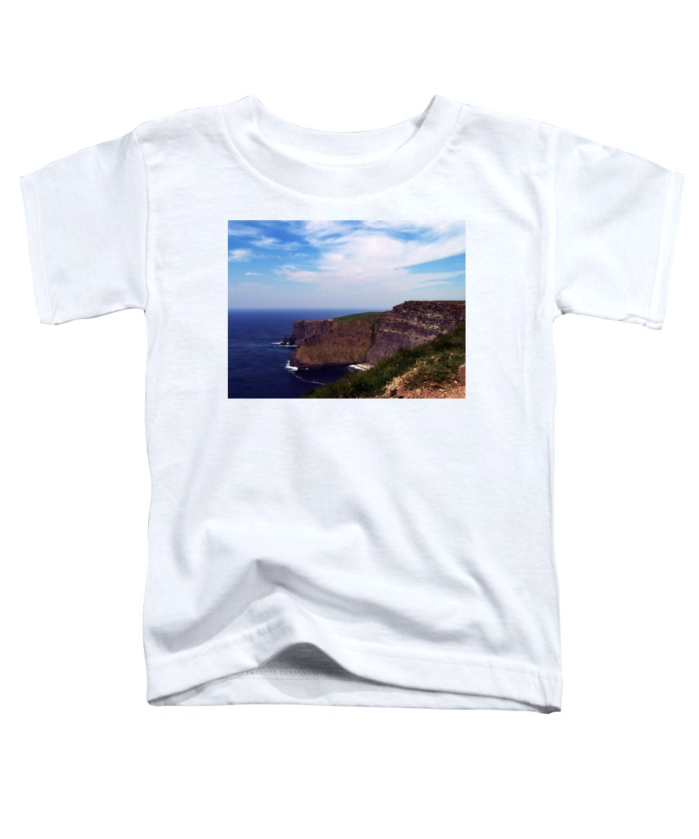 Irish Toddler T-Shirt featuring the photograph Cliffs Of Moher Aill Na Searrach Ireland by Teresa Mucha